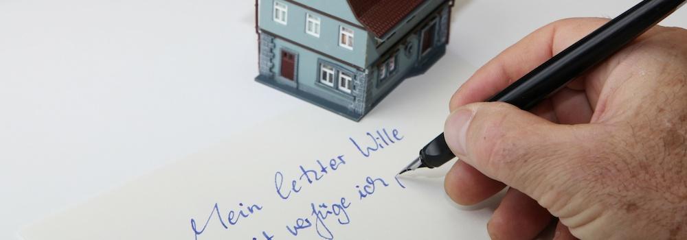 Testament verfassen Immobilie vererben